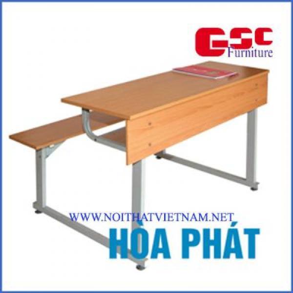 Bộ bàn liền ghế chân kiểu chữ I, không tựa BSV103