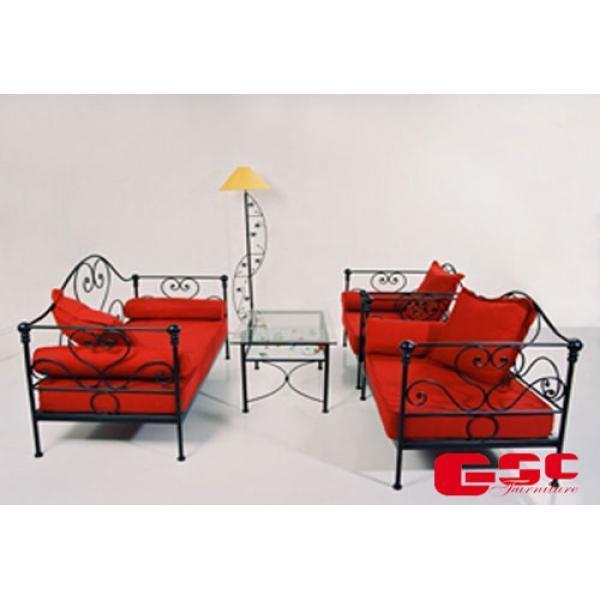 Bộ Sofa Khung sắt đệm bọc nỉ cao cấp C141