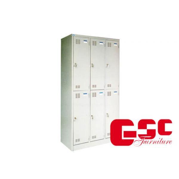 Tủ sắt locker Hòa Phát 6 khoang CAT982-3KT
