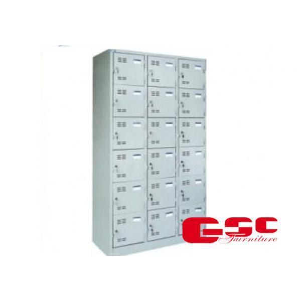 Tủ sắt đựng hồ sơ 3 buồng 18 khóa Hòa Phát CAT986-3K