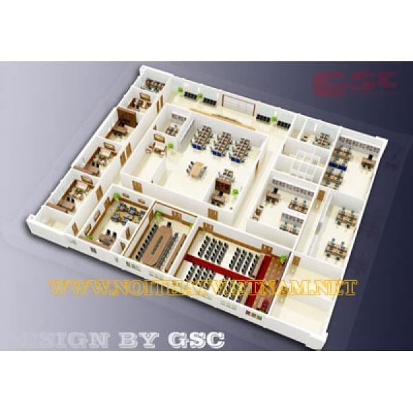 Mô hình nội thất  văn phòng Cái Lân GSC-CLAN