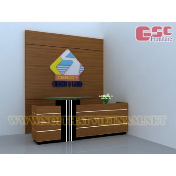 Mẫu quầy lễ tân văn phòng GSC-BLT02