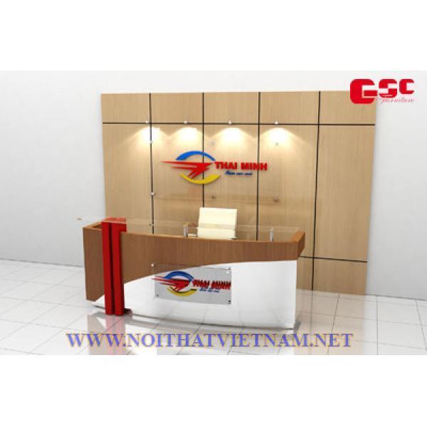 Quầy lễ tân thiết kế hàng sơn GSC-BLT10