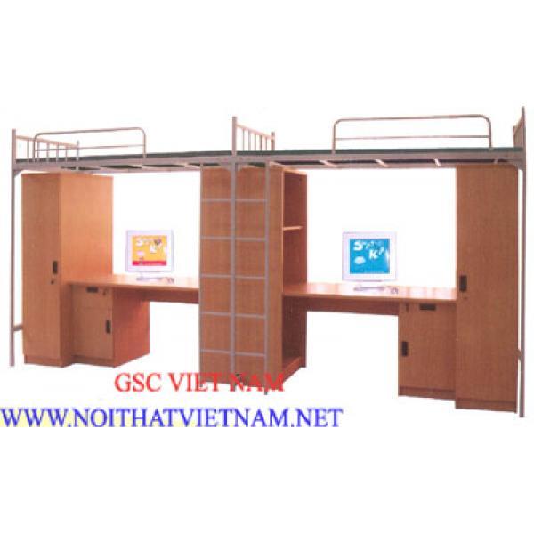 Giường 2 tầng hai khoang có tủ GT15