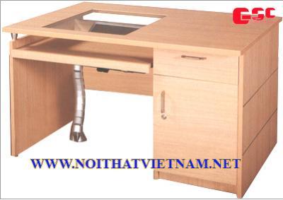 Bàn máy tính gỗ, chất liệu gỗ MFC HR-1200LCD