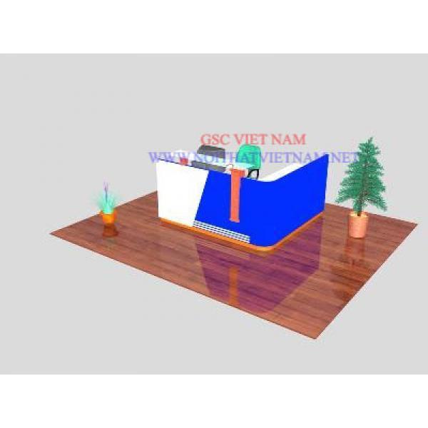 Quầy lễ tân làm bằng gỗ verneer hoặc MDF LT07