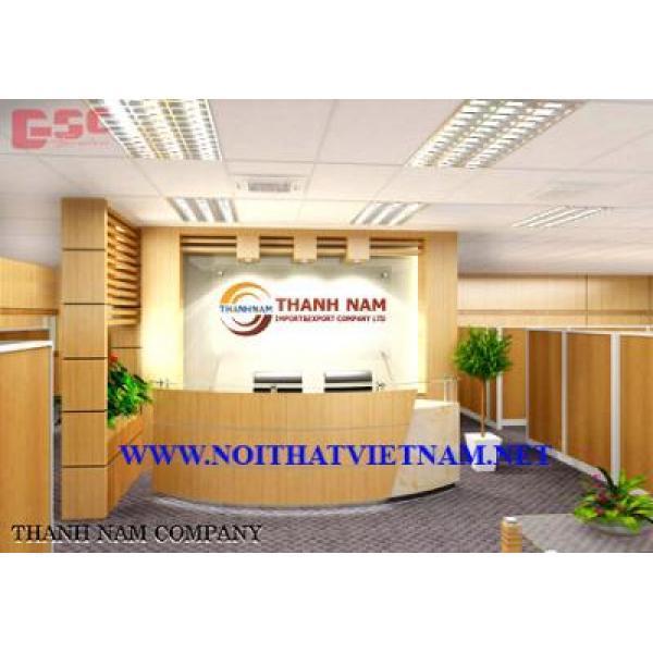 Mẫu bàn quầy lễ tân thiết kế-công ty Thành Nam LT100TN