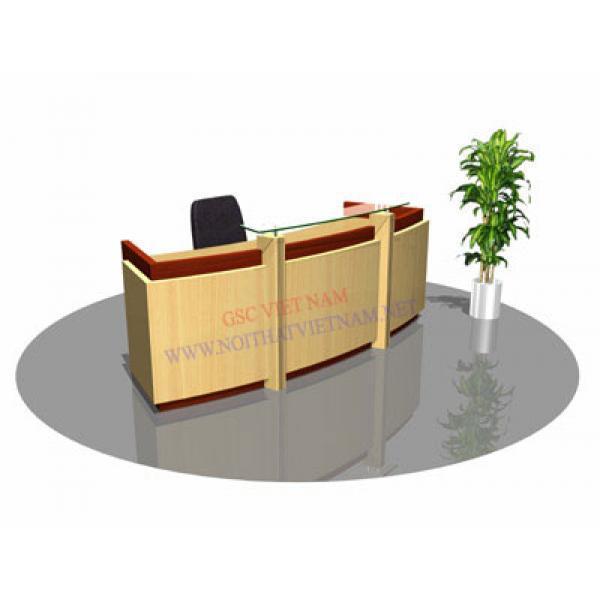 Quầy lễ tân làm bằng gỗ verneer hoặc MDF LT11