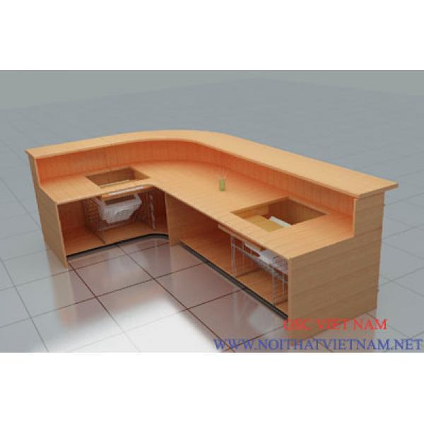 Mẫu bàn quầy và bàn lễ tân GSC-LT71