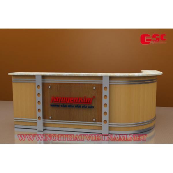 Mẫu bàn lễ tân thiết kế GSC-LT87