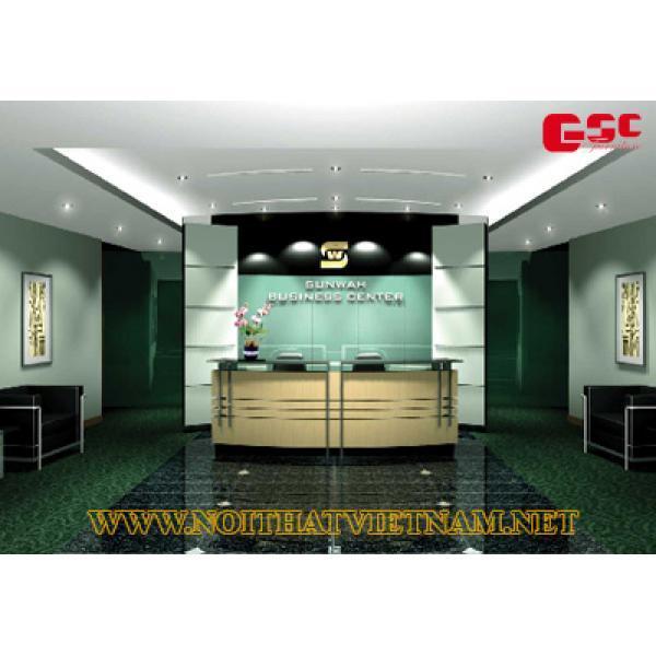 Mẫu bàn quầy lễ tân gỗ công nghiệp GSC-LT91