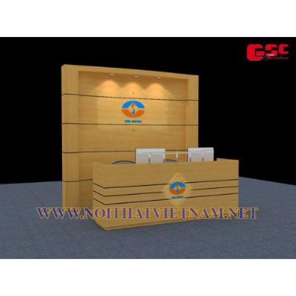 Quầy lễ tân gỗ công nghiệp phủ verneer GSC-LT96