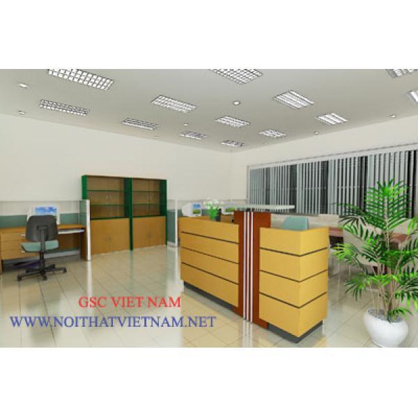 Mẫu bàn quầy lễ tân hàng thiết kế GSC-MHDN103