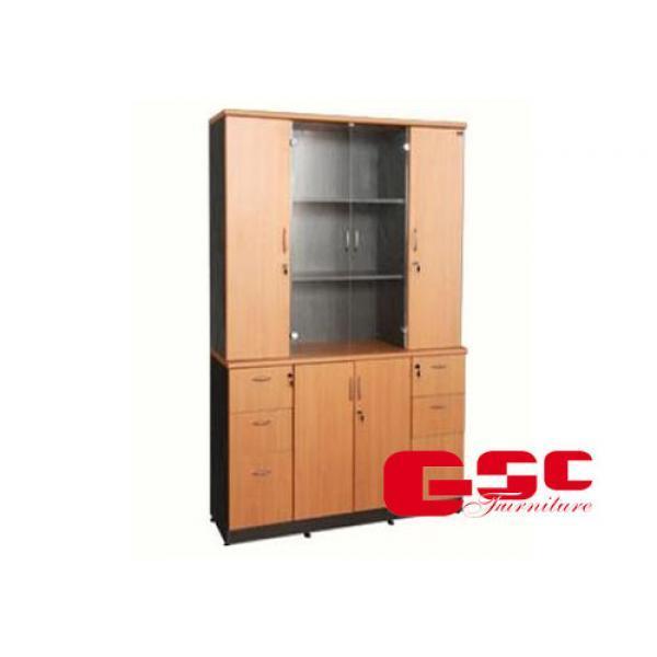 Tủ gỗ tài liệu cánh kính NT1960-4B