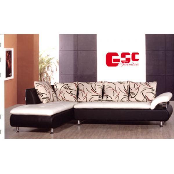 Sofa da cao cấp màu trắng đen SFD1