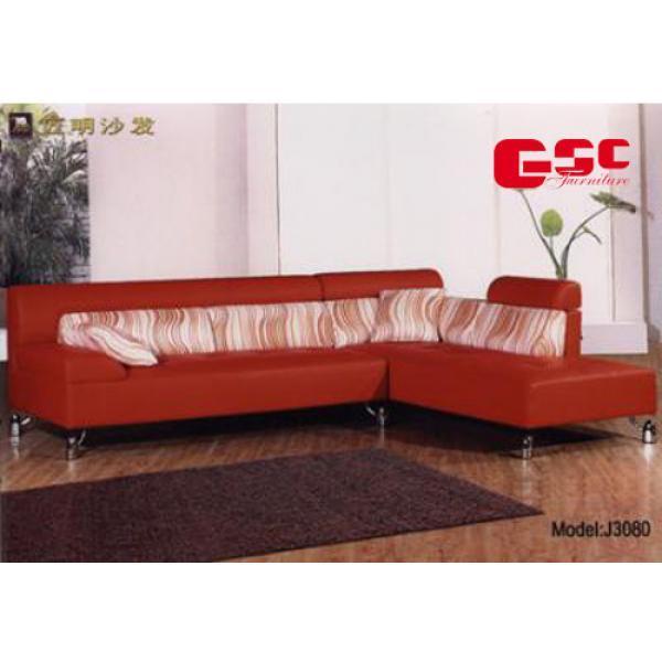 Sofa da cao cấp, màu đỏ sẩm, đệm tựa sợi thưa SFG2