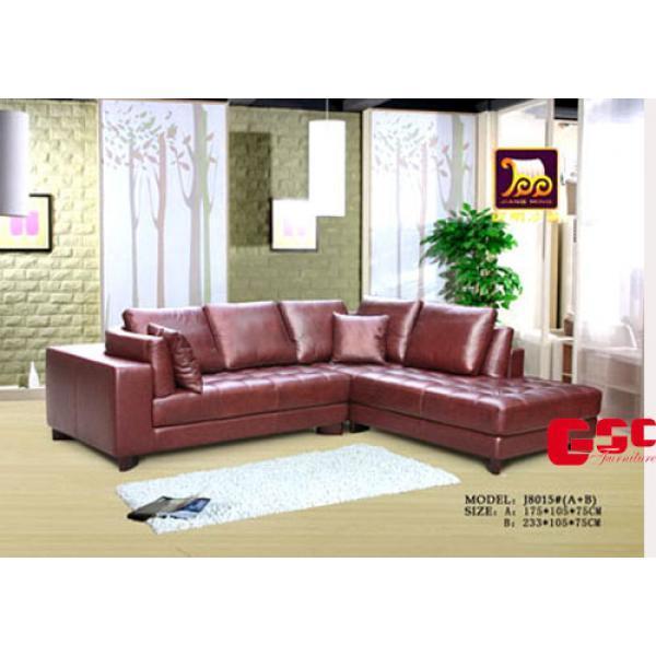Sofa da màu nẫu sẫm, ghế 4 chỗ, chân gỗ SFG9