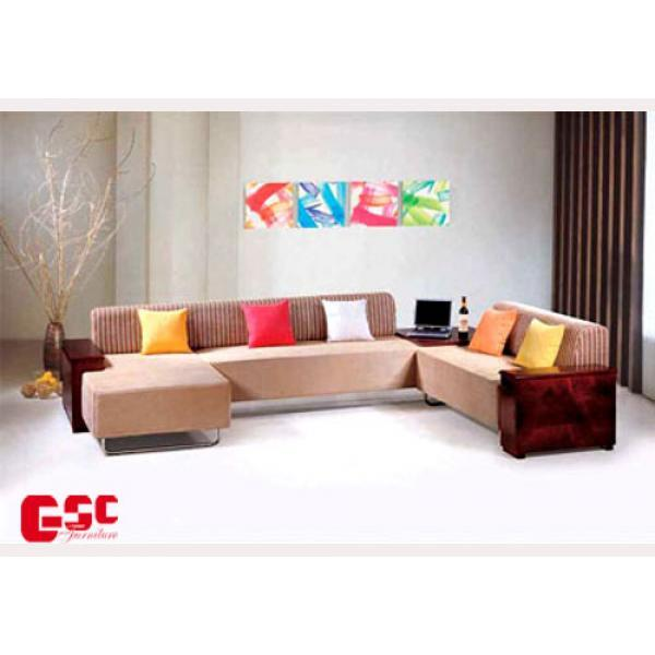 Sofa nỉ, màu gạch, 5 chỗ SFN13
