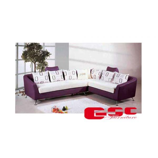 Sofa nĩ, màu trắng tím, chân inox SFN2
