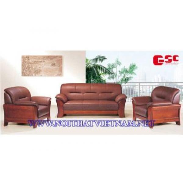 Sofa văn phòng gỗ tự nhiên GSC-SFVP-03