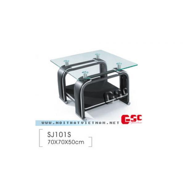 Bàn sofa mặt kính vuông SJ101S