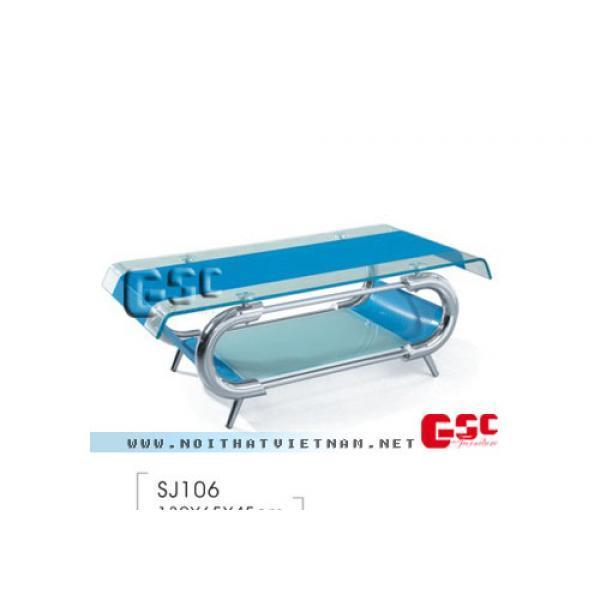 Bàn sofa mặt kính xanh SJ106