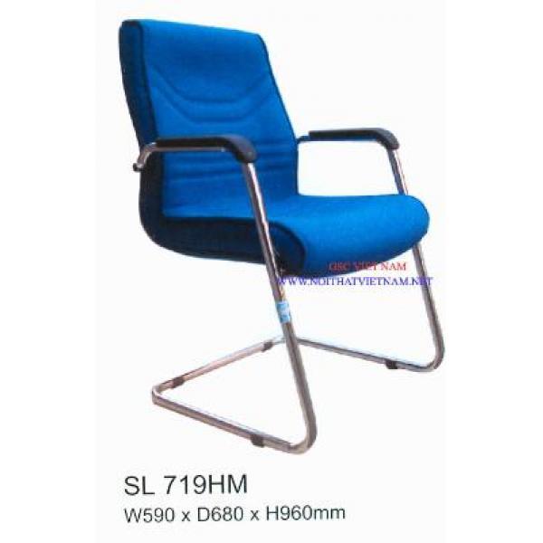 Ghế  họp chân quỳ bọc nỉ, lưng liền SL719HM