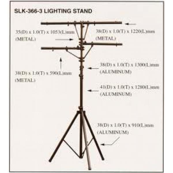 Chân đèn sân khấu 3 thanh SLK - 366-3 SLK - 366-3