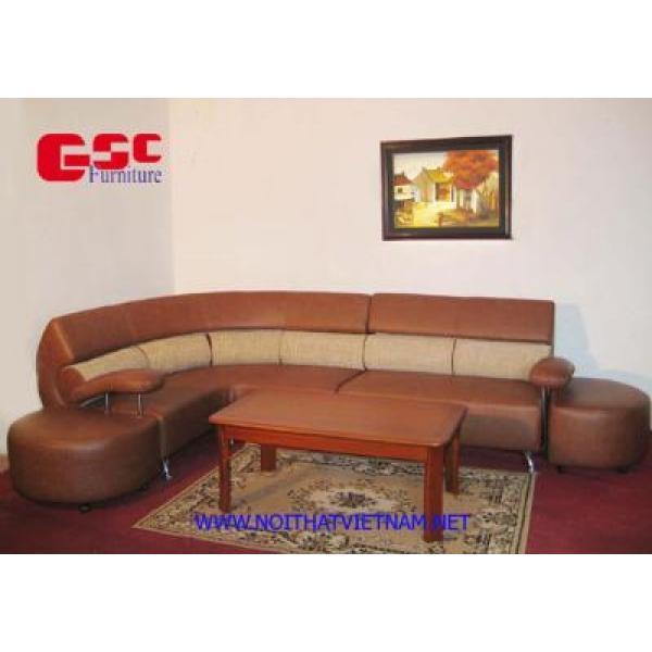 Bộ ghế SOFA góc phối 2 màu GSC-SOFA-D03