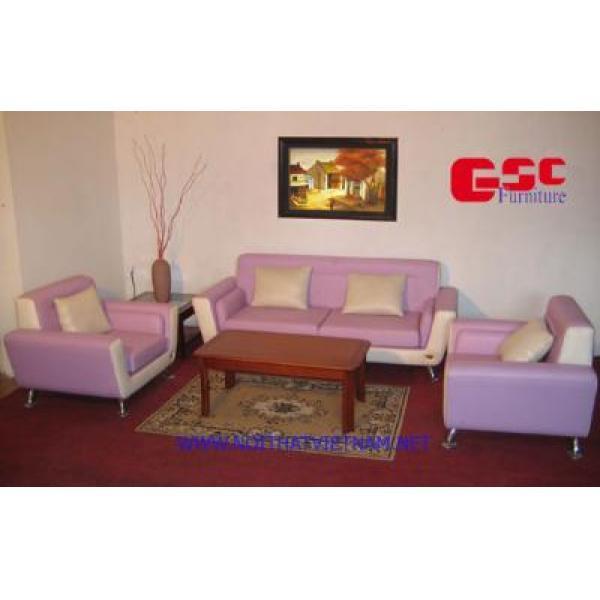 Bộ ghế SOFA vuông màu hồng - trắng GSC-SOFA-D04