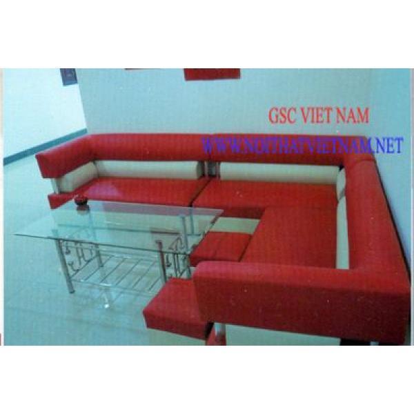 Bộ ghế SOFA góc màu đỏ GSC-SOFA-D06