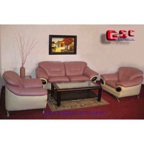 Sofa khung gỗ bọc da cao cấp GSC-SOFA-D18