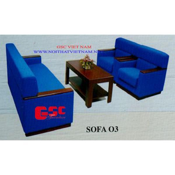 Bộ ghế Salon bọc nỉ màu xanh GSC-SOFA-N03