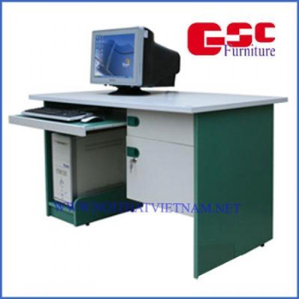 Bàn máy tính 1 hộc liền 1D10, có một khay bàn phím và kệ CPU - màu ghi xanh SV204SHL