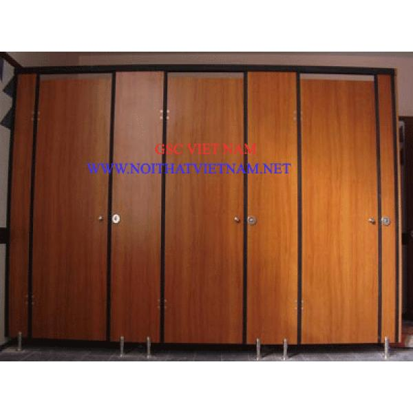 Vách ngăn vệ sinh gỗ chịu ẩm GSC-WC04